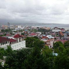 view of manado city... north sulawesi..indonesia