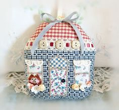 Valentine Day Cottage Ornament 5 House Door by CharlotteStyle