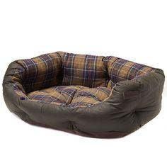 Barbour Hundebett Wax Cotton Dog Bed L