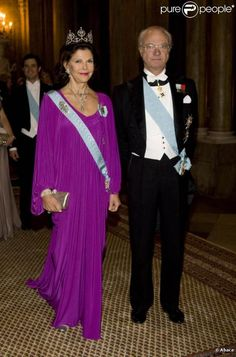 Queen Silvia wore this tiara for the Nobel Laureates Dinner on December 11, 2009