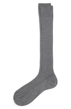 Best of formal socks - Pantherella Cotton Lisle Blend Over-the-Calf Socks #gray