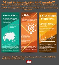 Want to immigrate to Canada? Here's how, 3-step infographic!
