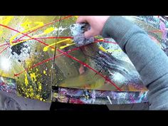 Abstract acrylic painting Demo HD Video - shot with Gopro Hero 2 - Wike