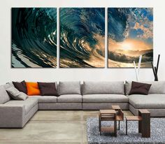 Extra large wall art  Great Wave Large Art by ExtraLargeWallArt