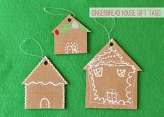 If you purchase your gifts online, you will probably find yourself with a stack of leftover boxes. Put those boxes to use this holiday season and make Cardboard Gingerbread House Gift Tags. These homemade Christmas gift tags are super easy to make. Cheap Christmas Crafts, Homemade Christmas Gifts, Christmas Gift Tags, Kids Christmas, Holiday Crafts, Cardboard Gingerbread House, Christmas Gingerbread, Gingerbread Houses, House Gifts