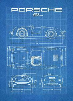 Motorcycle blueprint art print letters and words and images porsche cars porsche 550 porsche classic kit cars cutaway porsche carrera exotic cars pixel blueprint drawing malvernweather Choice Image
