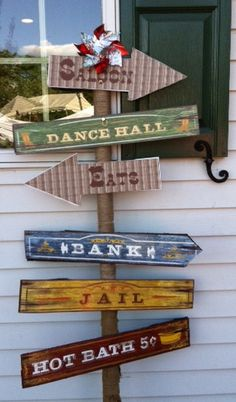 "Vintage Decor Ideas Photo 1 of western theme / Graduation/End of School ""Getting our Cowboy on! Cowgirl Party, Cowboy Birthday Party, Pirate Party, Country Western Parties, Western Decor, Western Theme Decorations, Western Signs, Western Saloon, Country Signs"