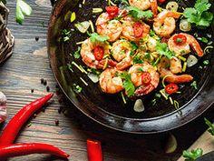 Succotash with Saffron & Shrimp Succotash Recipe, Chilli Prawns, Gourmet Recipes, Healthy Recipes, Delicious Recipes, Cilantro Lime Shrimp, Everyday Dishes, Sugar Free Recipes, Eating Clean