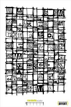 Tampon en Caoutchouc monté sur mousse électrostatique EZ-Mount. Livré avec un bloc acrylique (OFFERT) Thème: Collage Background