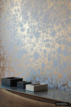 Balance the dark with a gentle sheen. Product by Calico Wallpaper. Find more products at: www.NewWall.com