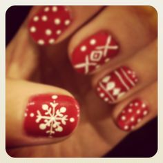 Christmas Sweater Nails!