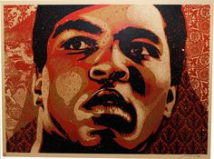 Muhammad Ali  Color screenprint,  2006,  18 x 24 inches
