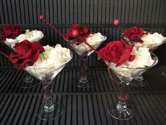 Martini glass Vase - awesome centerpiece