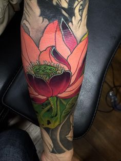 Flor Tattoo, Lotus Tattoo, Arm Tattoo, Large Flowers, Colorful Flowers, Dessert Tattoo, Red Rosa, Hannya Mask Tattoo, Summer Tattoo