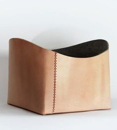 Large Leather Basket
