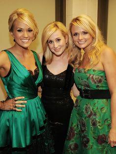 Carrie Underwood, Kellie Pickler and Miranda Lambert