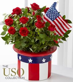 American Flag Flower Arrangement | The Right Flowers » Beautiful Flowers for Memorial Day and ...