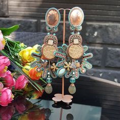 Our Bogart earrings on display at Inspiration, Kazakhstan. #DoriCsengeri #statement #earrings