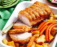 Roast pork with mixed vegetables