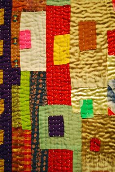 a Wonderful Life: Kawandi Adventure: Quilts by Margaret Fabrizio Strip Quilts, Easy Quilts, Small Quilts, Scrappy Quilts, Primitive Quilts, Gees Bend Quilts, Handmade Quilts For Sale, African Quilts, Fiber Art Quilts