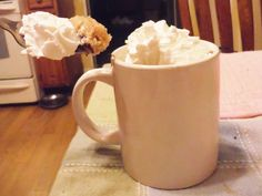 Blondie in a mug. I made this tonight and it was amazing.
