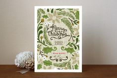 Sketchbook Foliage Holiday Non-Photo Cards #RavennaGirlsMintedHolidayFaves