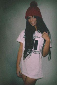 long hair, cute hat