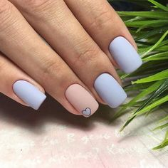 In Short nails have always been popular with fashion women. Short nails are diversified and colorful. In every season of Manicure fashion, you can see short nails on any. Prom Nails, Long Nails, My Nails, Short Nails, Nails 2018, Solid Color Nails, Nagellack Design, Rose Gold Nails, Bridal Nails