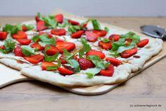 Schöner Tag noch! Food-Blog mit leckeren Rezepten für jeden Tag: Erdbeer-Ziegenkäse-Flammkuchen mit Basilikum und B...