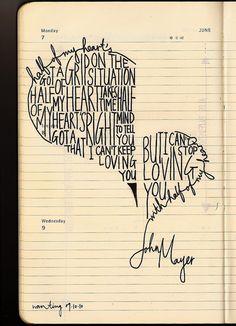 """Half of My Heart"", looks like your handwriting!! <3"
