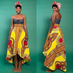 New in the marketplace: The Yellow Dashiki High Low Skirt by Rahyma • available at zuvaa.com ☀️