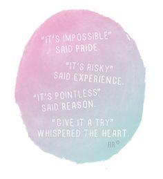 pride, experience, reason & heart