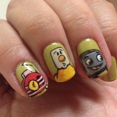 """""""The Brave Little Toaster! One of my all time favorite animations. Base color: OPI Don't Talk Bach to Me. #naildork #OPI #thebravelittletoaster…"""""""