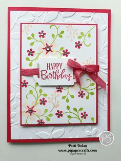 Pretty Birthday Card using Thoughtful Blooms — P. Paper Crafts - Pretty Birthday Card using Thoughtful Blooms — P. Paper Crafts Birthday Card using Thoughtful Blooms. Handmade Birthday Cards, Happy Birthday Cards, Diy Birthday, Happy Birthdays, Sister Birthday, Card Birthday, Flower Birthday Cards, Tarjetas Stampin Up, Stampin Up Cards