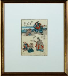 black friday sale fine artwork discount 24% OFF listed price at David Barnett Gallery | inquiries@davidbarnettgallery.com | framed color woodcut Japanese 1840 artist Keisai Eisen