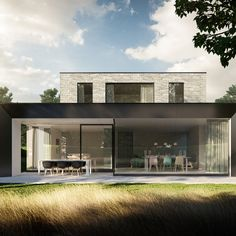 Modern Architecture House, Residential Architecture, Architecture Design, Minimalist House Design, Modern House Design, Building Design, Building A House, Bungalow House Design, House Extensions