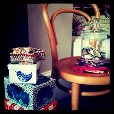 every girls bedroom needs good accessories and colourful boxes!