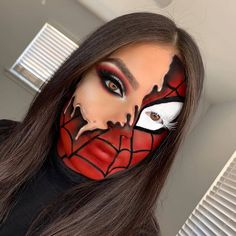 Everything from Baby Shark to Batman. Crazy Halloween Makeup, Halloween Eyes, Halloween Makeup Looks, Crazy Makeup, Halloween Costumes, Halloween Party, Beautiful Halloween Makeup, Normal Makeup, Halloween Photos