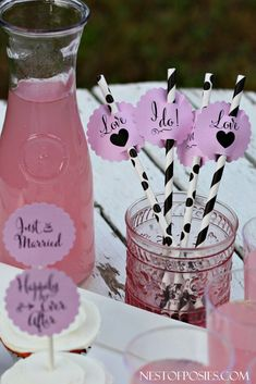 Getting married?  Or are you throwing a bridal shower?  #Wedding and Bridal Shower #Printable Cupcake and Drink Toppers