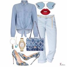 "1,428 Gostos, 5 Comentários - Fashiers - Fashion App (@fashiers) no Instagram: ""Which one rocks blue better?, visit the link in our bio to shop these looks! or go to…"" Trouser Outfits, Hot Outfits, Classy Outfits, Fashion Outfits, Diva Fashion, Look Fashion, Womens Fashion, College Looks, Fashion And Beauty Tips"