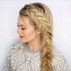 Peinados fáciles styles women for curly hair for round faces for school for thin hair male mens step by step Hairstyle For Girls Video, Tween Hairstyles For Girls, Step Hairstyle, Hairstyle Ideas, Medium Hair Styles, Curly Hair Styles, Cute Hairstyles, Long Blonde Hairstyles, Side Braids For Long Hair
