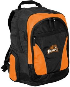 NCAA Oregon State Beavers Team Backpack by Logo. $49.95. Honeycomb shoulder straps. Holds up to a 17-Inch laptop. Two embroidered school logo's. IPOD holder on shoulder strap. Take your pride to college or wherever you go! Main compartment provides ample storage for books in addition to a padded area that will hold up to a 17-Inch laptop. Pockets for MP3 player, keys, water bottles, pens, etc.