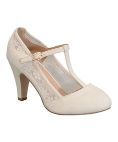 Take a look at this Chase & Chloe Nude Kimmy T-Strap Pump today!