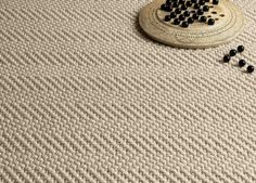 Jacaranda Natural Weave Herringbone Marl Carpet