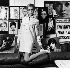 Twiggy in an outfit from Mary Quant, the Welsh fashion designer Fashion Casual, Mod Fashion, 1960s Fashion, Fashion Models, Vintage Fashion, Mary Quant, Vintage London, Alexa Chung, Outfits Plus Size