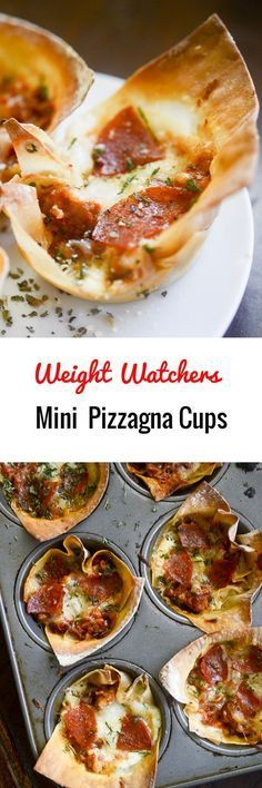 Weight Watchers Mini Pizzagna Cups - 4 Smart Points Each!