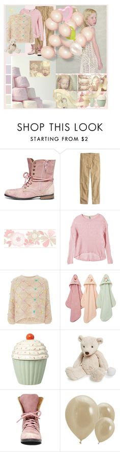 """""""green balloon"""" by halebugg ❤ liked on Polyvore featuring Steve Madden, J.Crew, York Wallcoverings, Albino, Benetton, Nobody's Child, Jellycat, birthday, party and pastel"""