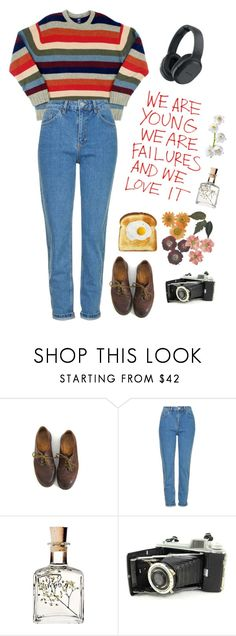 """""""Goodbye Goodbye Goodbye Goodbye"""" by owlenstar on Polyvore featuring Dr. Martens, Topshop, Kodak and Sony"""