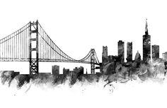 San Francisco Skyline  #sanfrancisco #usa #cityscape #skyline #landscape #women #studio #pouches #print