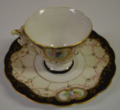 Tea-Cup-Saucer-and-stand-Occupied-Japan